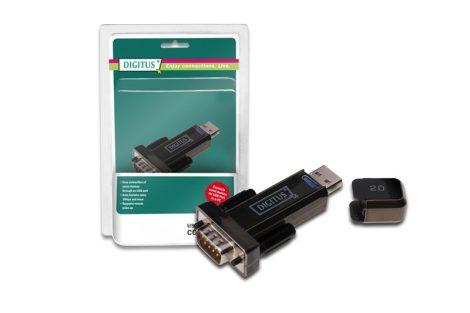 Digitus USB 2.0 papa - RS232 COM papa átalakító adapter (DA-70156)