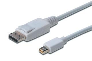 Digitus Displayport 1.1 - mini DP kábel 2m (AK-340102-020-W)