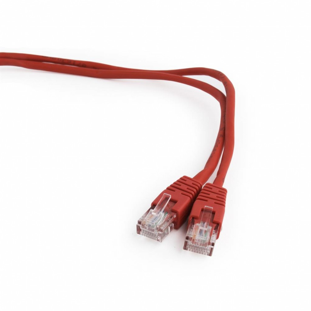 Gembird UTP CAT5e patch kábel 1m, piros