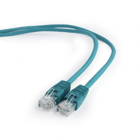 Gembird UTP CAT5e patch kábel 0.5m, zöld (PP12-0.5M/G)