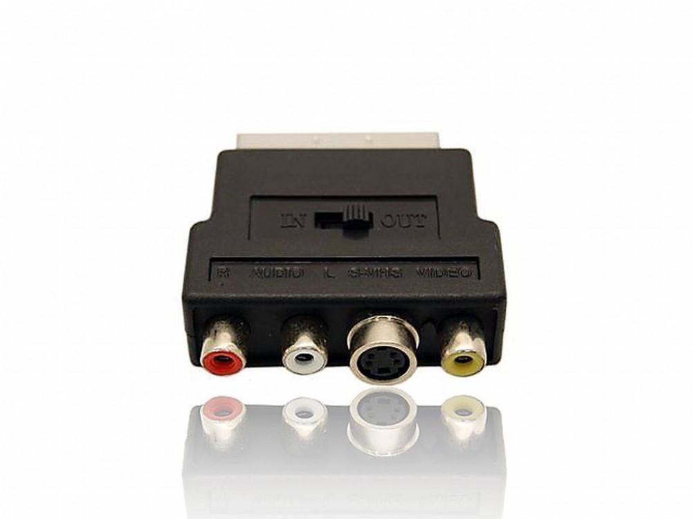 Gembird SCART dugó - 3x RCA aljzat adapter