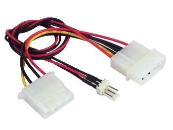 Gembird molex - 3 pin átalakító ventilátorhoz (CC-PSU-5)