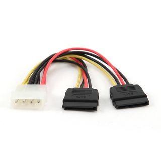 Gembird MOLEX tápkábel - 2x SATA kábel