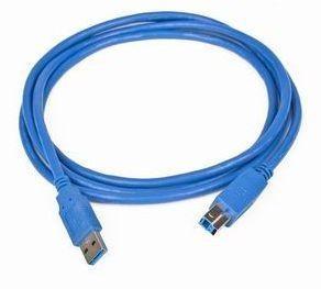 Gembird kábel USB 3.0 AM-BM 3.0m, kék (CCP-USB3-AMBM-10)