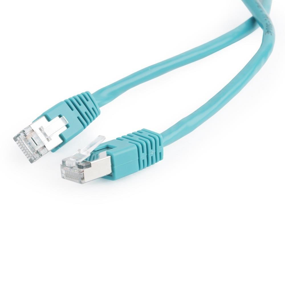 Gembird FTP CAT5e hálózati patch kábel 0.5m, zöld