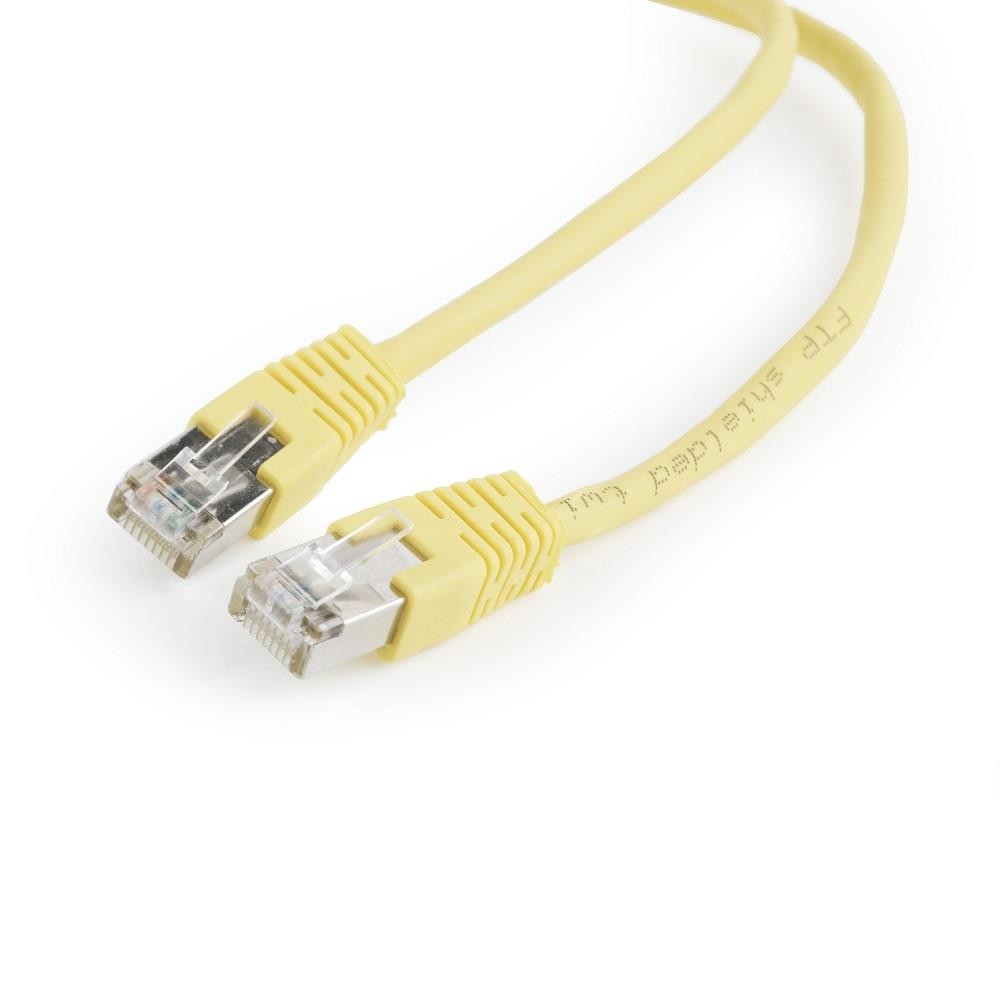 Gembird FTP CAT5e hálózati patch kábel 0.5m, sárga