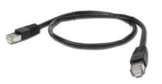 Gembird FTP CAT5e hálózati patch kábel 1m, fekete (PP22-1M/BK)