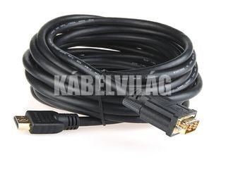 Gembird HDMI - DVI 10m kábel (aranyozott)