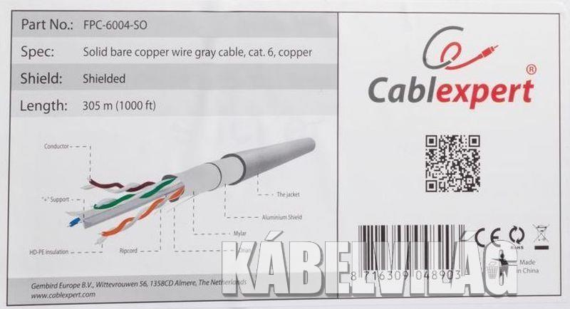 Gembird FTP fali dobozos kábel 305m CAT6