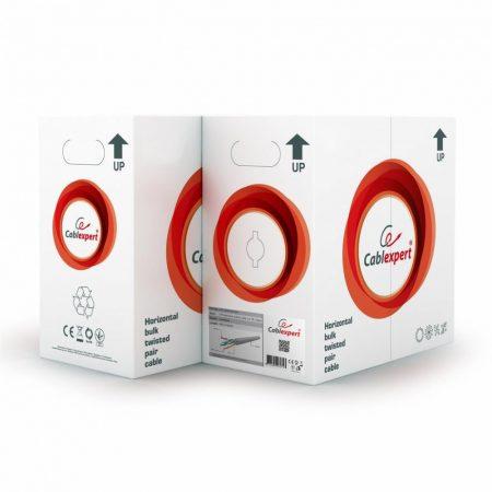 Gembird UTP tömör kültéri dobozos kábel 305m CAT5e, fekete 100% réz (UPC-5051E-SO-OUT)