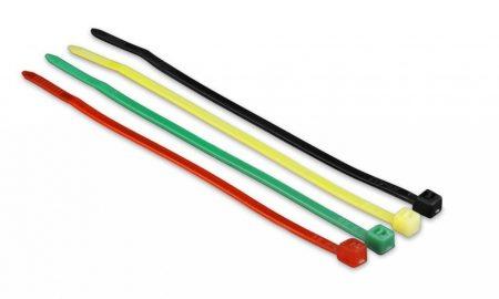 Gembird kábelszorító szett, 100db, 10cm 4 szín