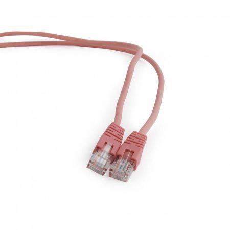 Gembird UTP CAT5e RJ45 patch kábel, 1m, rózsaszín (PP12-1M/RO)