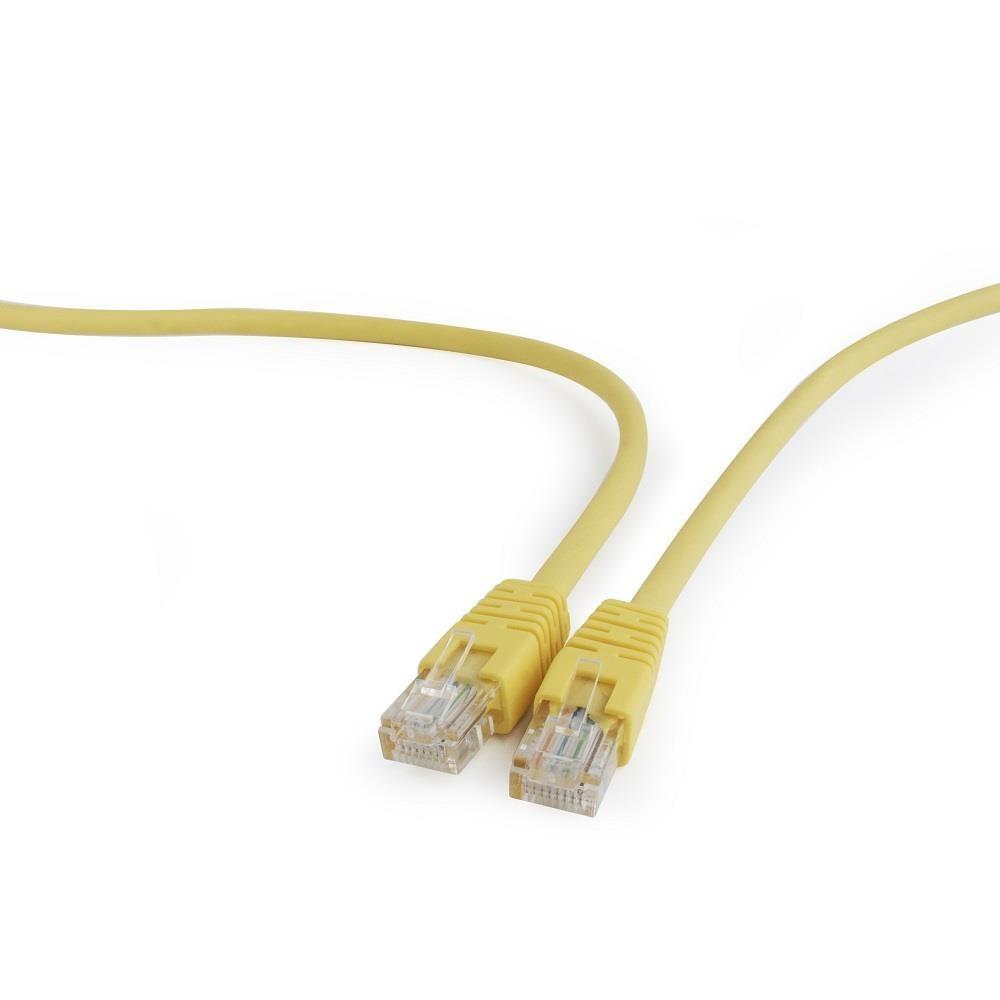 Gembird UTP CAT5e patch kábel 0.25m, sárga