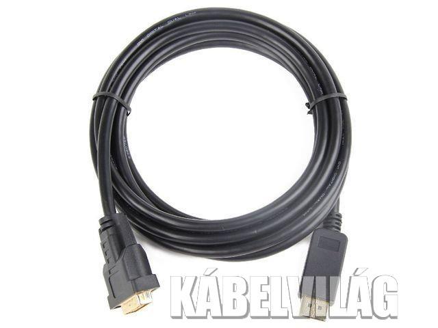Gembird DisplayPort - DVI-D 24+1 kábel 1m