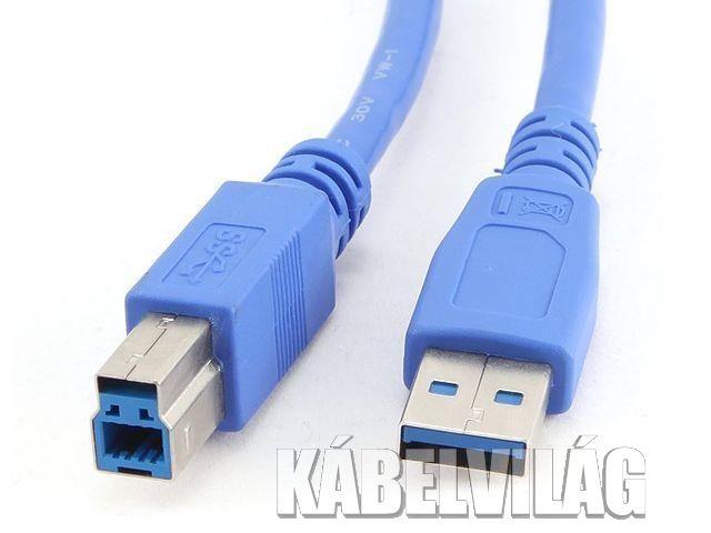 Gembird Cable USB 3.0 AM-BM 0.5m, kék (CCP-USB3-AMBM-0.5M)