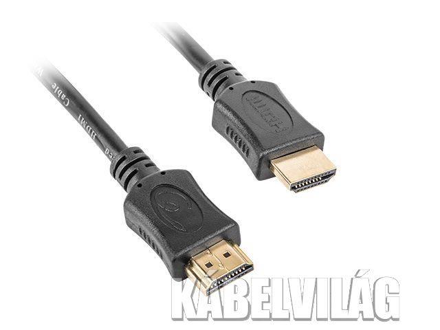 Gembird HDMI kábel 1m (aranyozott) 1.4 ethernet narancs