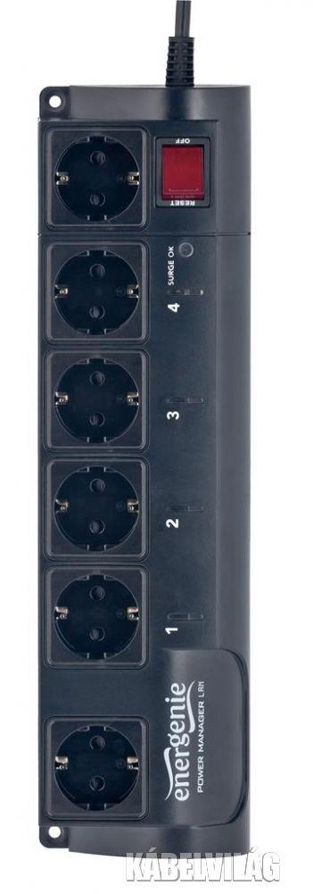 Gembird programozható 4 utas hálózati elosztó LAN 1.5m (EG-PMS2-LAN)