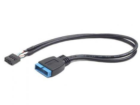 Gembird 9-pin USB 2.0 to 19-pin USB 3.0 internal header kábel (CC-U3U2-01)