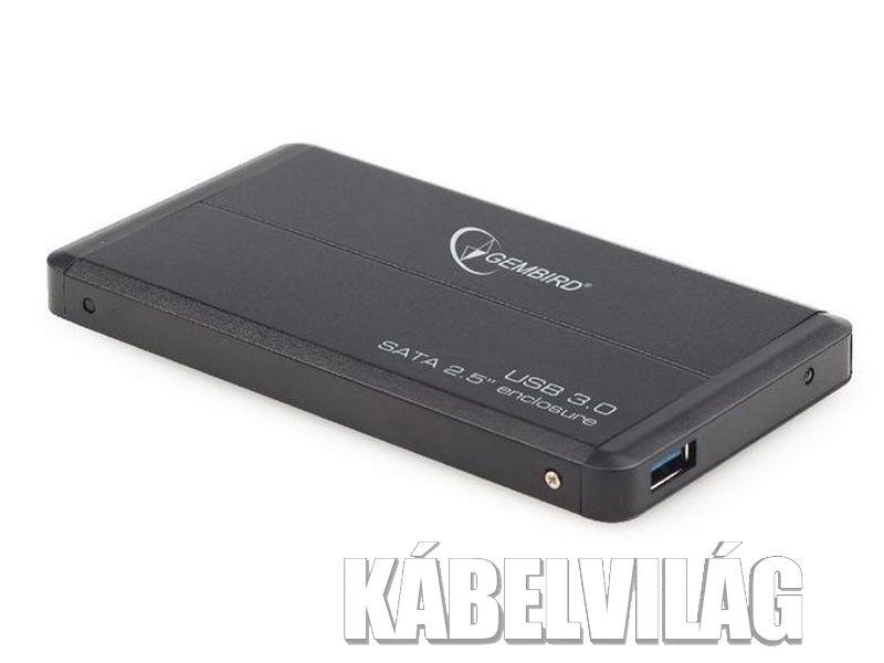 "Gembird 2.5"" USB 3.0 SATA külső hdd ház mini usb, fekete (EE2-U3S-2)"