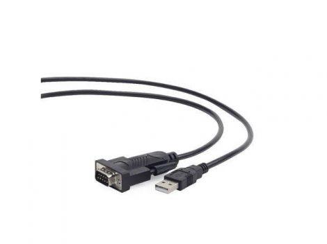 Gembird USB - RS232 COM átalakító kábel 1.5m fekete (UAS-DB9M-02)