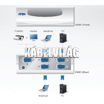 ATEN 4 portos VGA Switch