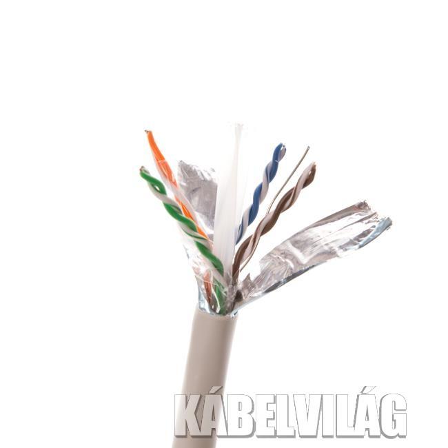 Linkbasic FTP fali dobozos kábel 305m CAT6 tiszta réz