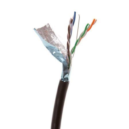 Linkbasic FTP kültéri dobozos kábel 305m CAT5, fekete, tiszta réz