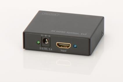 DIGITUS 2 portos HDMI UltraHD 4K elosztó szétosztó (DS-46304)