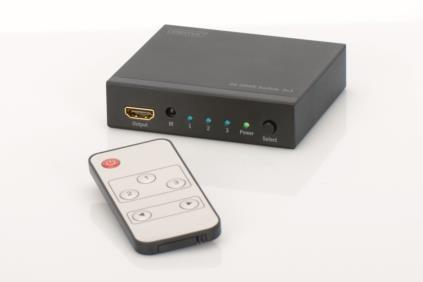 Digitus HDMI átkapcsoló UltraHD 4K, 3 portos (DS-48304)