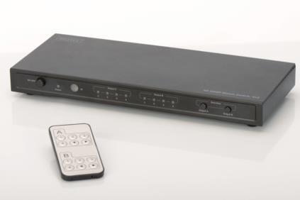 Digitus HDMI átkapcsoló Matrix UltraHD 4K, 4/2 portos (DS-50304)