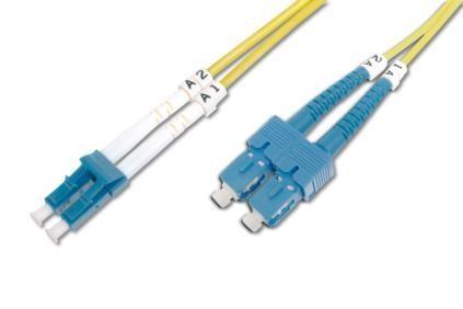 Digitus üvegszálas optikai patch kábel , duplex SM 9/125 LC / SC 2m (DK-2932-02)