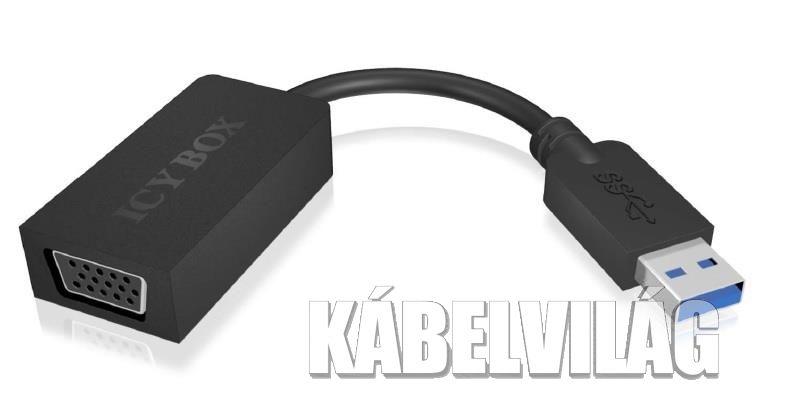IcyBox USB 3.0 - VGA átalakító konverter (IB-AC507)