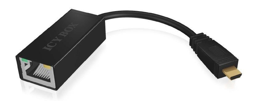 IcyBox Micro USB 2.0 Fast Ethernet Adapter hálózati kártya