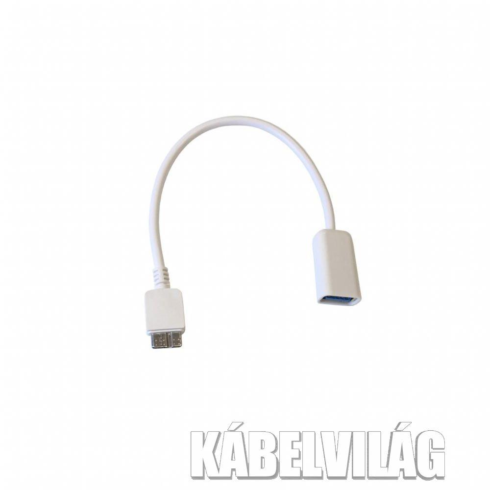 ART USB 3.0 anya - micro USB apa OTG kábel 10cm (AL-OEM-161)