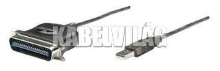 Manhattan USB - Parallel (párhuzamos) port átalakító kábel 1.8m