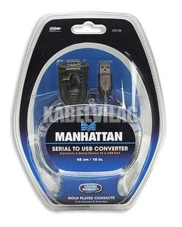Manhattan USB - RS232 (COM) átalakító kábel 0.45m