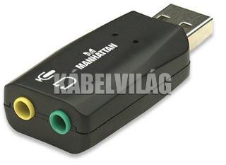 Manhattan Hi-Speed USB 3-D hangkártya