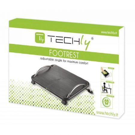 Techly ergonomikus lábtámasz állítható dőlésszöggel, fekete (305564)