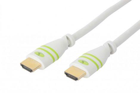 Techly HDMI 1.4 Ethernet 3D kábel 10m, fehér (HDMI-4-0100WH)