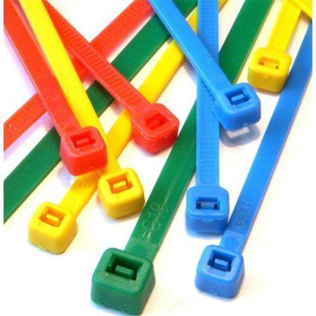 Techly többszínű kábelkötegelő szett, 200db (306479)