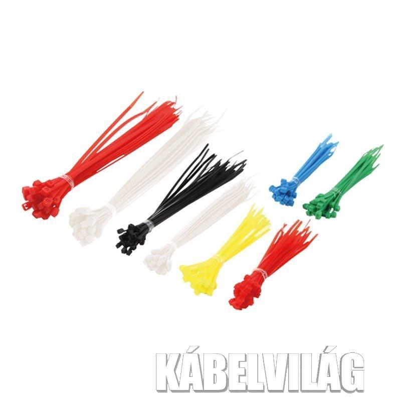 Techly többszínű kábelszorító szett, 200db (306479)