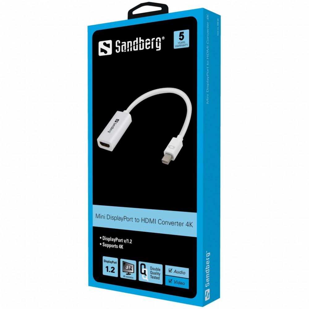 Sandberg mini Display port 1.2 - HDMI 4K adapter (508-96)