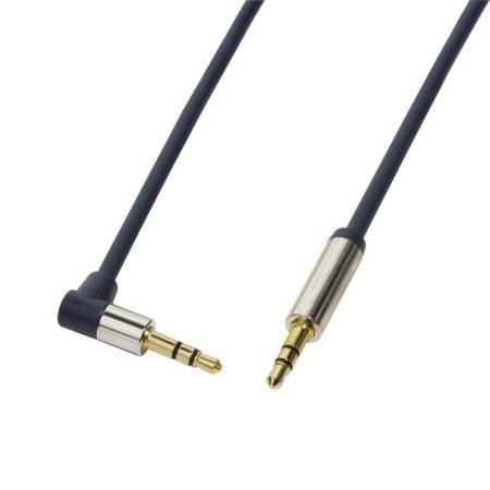 Logilink 3.5 Jack audio sztereó 90° kábel, 5m (CA11500)
