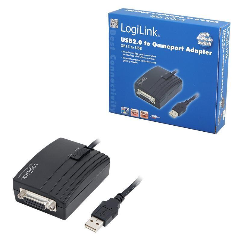 Logilink USB 2.0 - DB15 Gameport átalakító, 1.5m  (UA0052C)