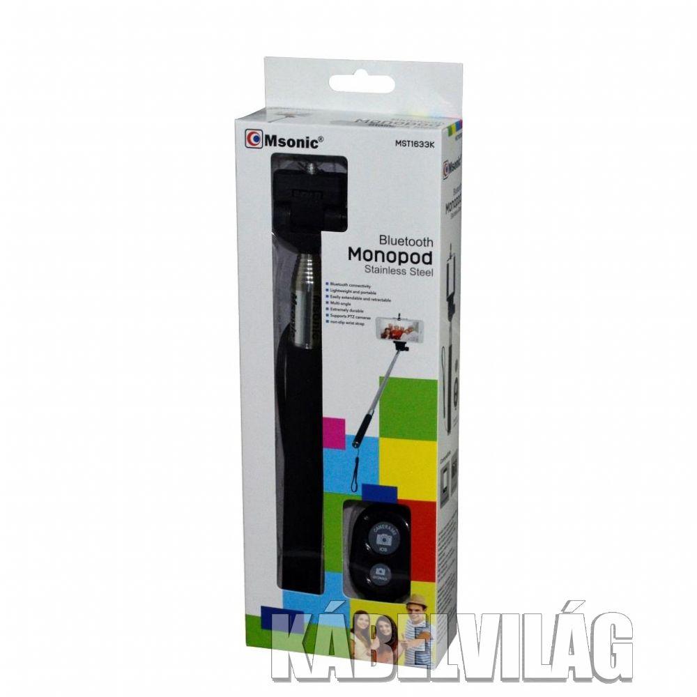 MSONIC Bluetooth selfie bot, távirányítóval, fekete (MST1633K)
