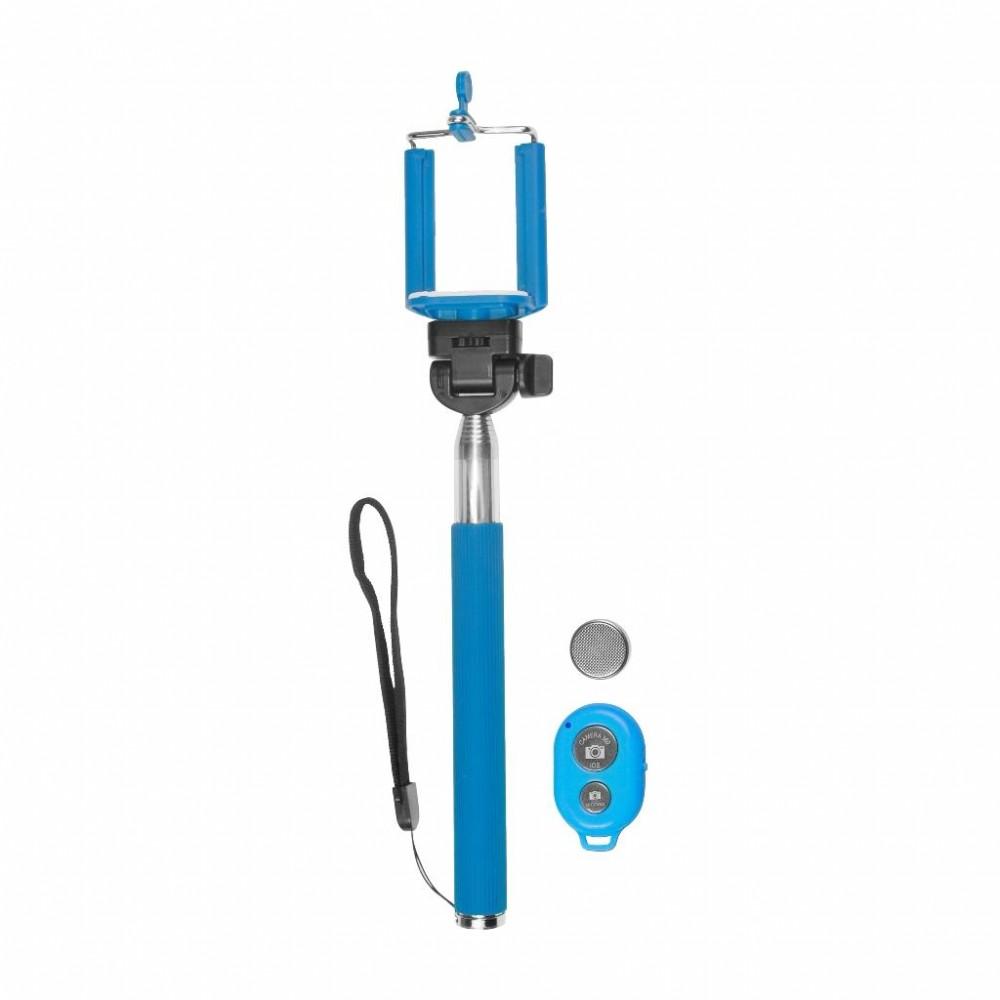 MSONIC Bluetooth selfie bot, távirányítóval, kék (MST1633B)
