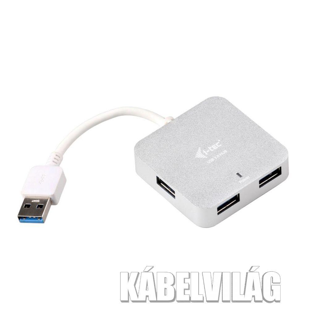 i-Tec passzív HUB USB 3.0, 4 portos, fehér (U3HUBMETAL402)