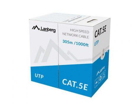 Lanberg UTP CAT5e tömör kábel 305m (LCU5-10CC-0305-S)