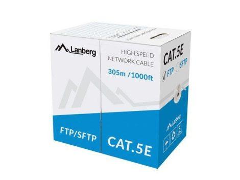 Lanberg FTP Cat5e tömör kábel 305m (LCF5-10CC-0305-S)