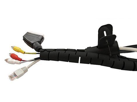 Maclean spirál kábelvédő 22x25mm, 2m fekete (MCTV-676 B)